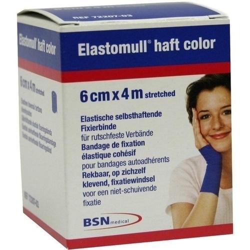 ELASTOMULL haft color 6 cmx4 m Fixierb. blau