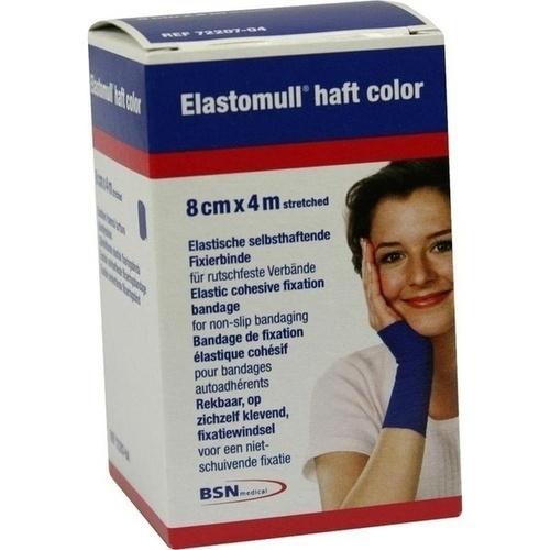 ELASTOMULL haft color 8 cmx4 m Fixierb. blau