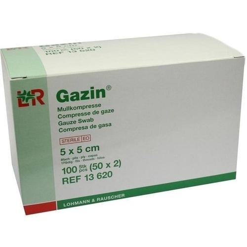 GAZIN Mullkomp.5x5 cm steril 8fach