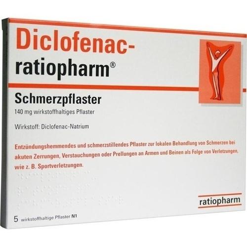 DICLOFENAC-ratiopharm Schmerzpflaster