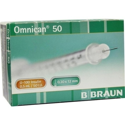 OMNICAN Insulinspr. 0,5 ml U100 m. Kan. 0,30x12 mm