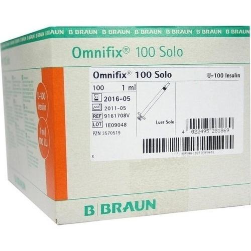 OMNIFIX Insulinspr. 1 ml f. U100