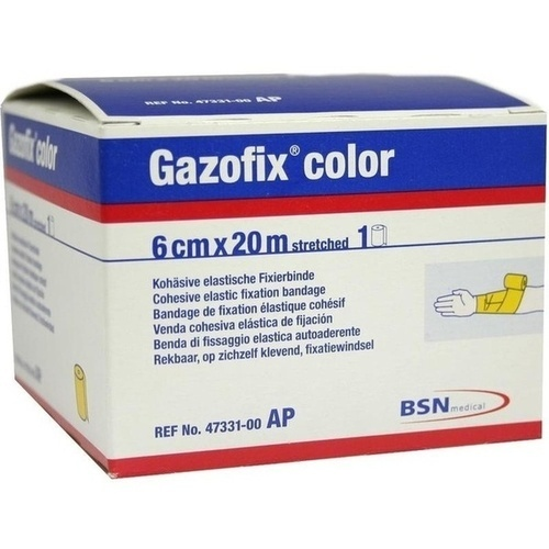 GAZOFIX color Fixierbinde 6 cmx20 m gelb