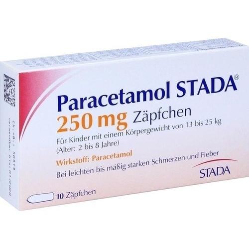 PARACETAMOL STADA 250 mg Zäpfchen
