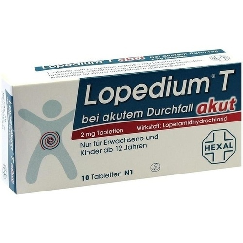 LOPEDIUM T akut bei akutem Durchfall Tabletten