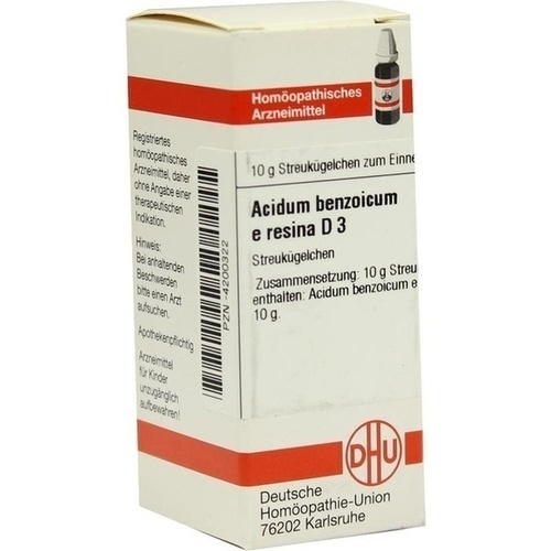 ACIDUM BENZOICUM E Resina D 3 Globuli