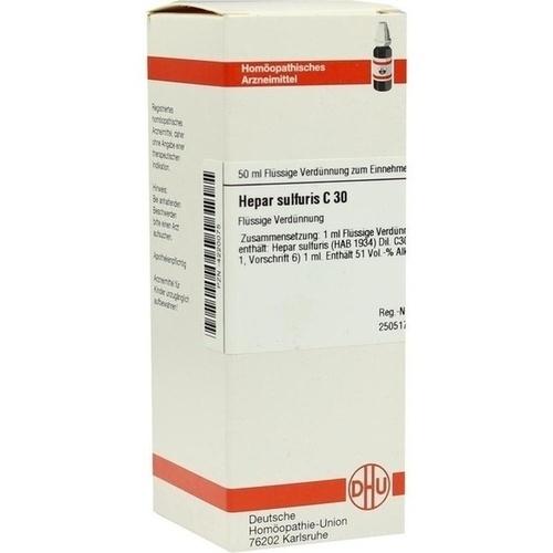 HEPAR SULFURIS C 30 Dilution