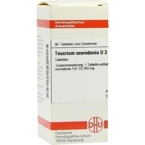 TEUCRIUM SCORODONIA D 3 Tabletten 80 St.