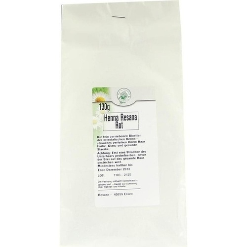 HENNA rot Resana Pulver 130 g