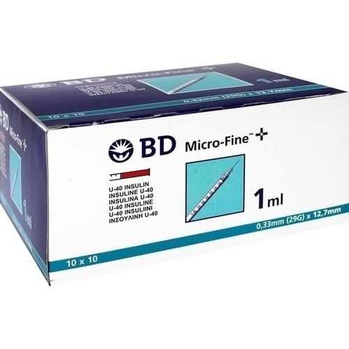BD MICRO-FINE+ Insulinspr. 1 ml U40 12,7 mm