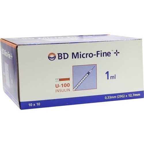 BD MICRO-FINE+ Insulinspr.1 ml U100 12,7 mm
