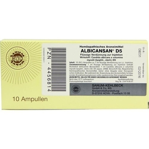 ALBICANSAN D 5 Ampullen