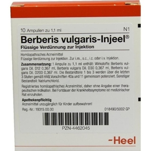 BERBERIS VULGARIS INJEEL Ampullen
