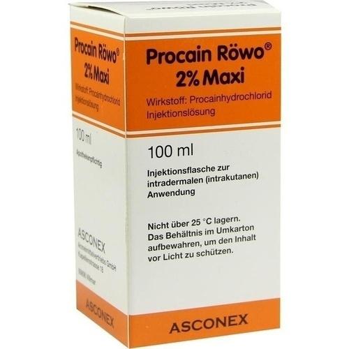pharmarissano Arzneimittel GmbH PROCAIN RÖWO 2% Maxi Injektionsflaschen 100 ml 04494022