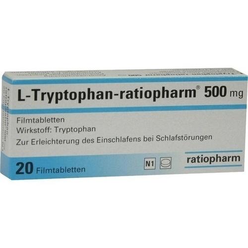 l tryptophan ratiopharm 500 mg filmtabletten 20 st. Black Bedroom Furniture Sets. Home Design Ideas