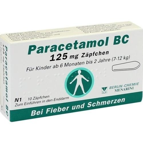 PARACETAMOL BC 125 mg Suppositorien
