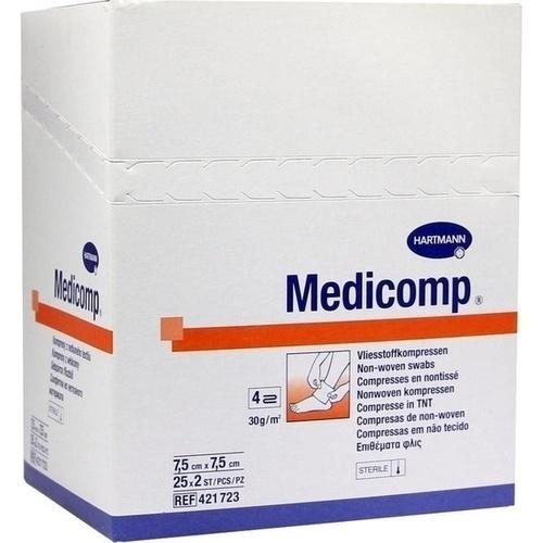 MEDICOMP Vlieskomp.steril 7,5x7,5 cm 4lagig