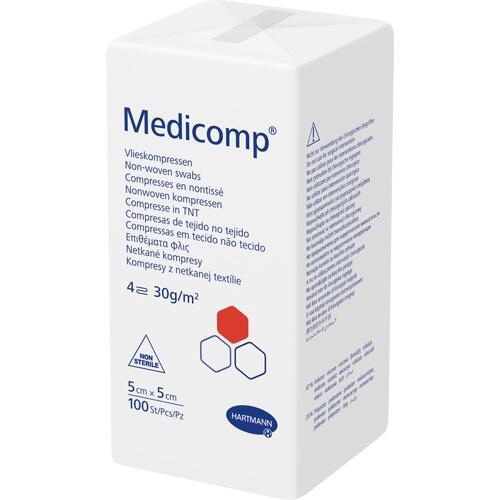 MEDICOMP Vlieskomp. unsteril 5x5 cm 4lagig