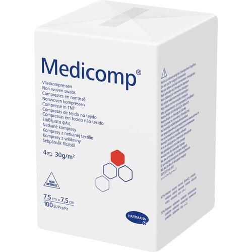 MEDICOMP Kompressen 7,5x7,5 cm unsteril