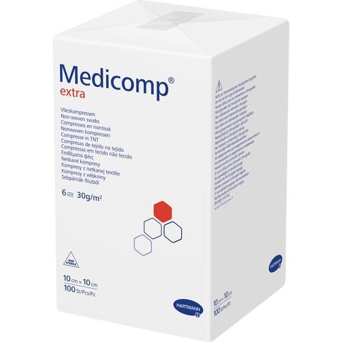 MEDICOMP extra Vlieskomp.unsteril 10x10 cm 6lagig