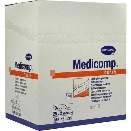 MEDICOMP Drain Kompressen 10x10 cm steril
