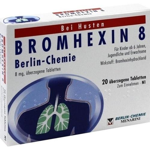 BROMHEXIN 8 Berlin Chemie überzogene Tabletten