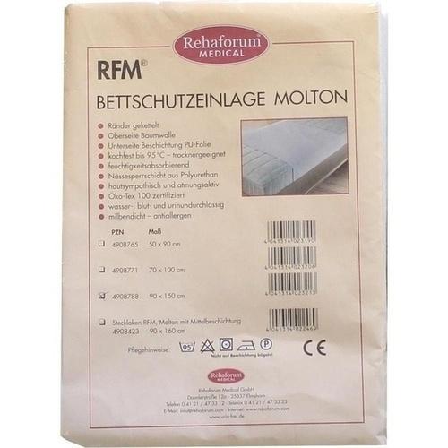 BETTEINLAGE Molton/PVC 90x150 cm