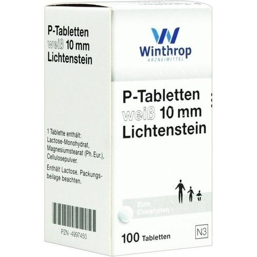 P TABLETTEN weiß 10 mm