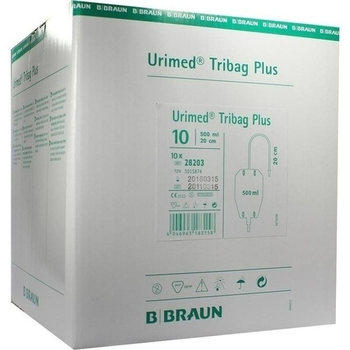 URIMED Tribag Plus Urin Beinbtl.500ml 20cm ster.