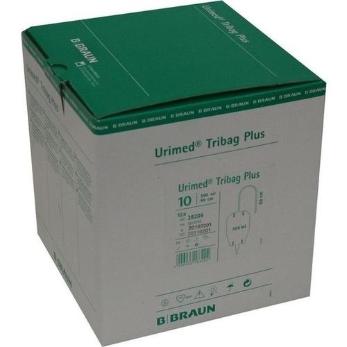 URIMED Tribag Plus Urin Beinbtl.500ml 80cm unst.