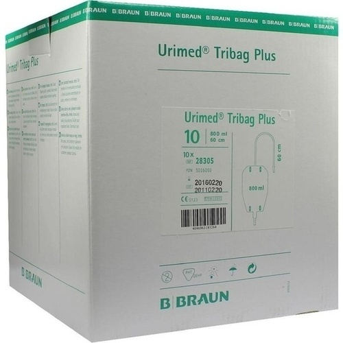 URIMED Tribag Plus Urin Beinbtl.800ml 60cm ster.