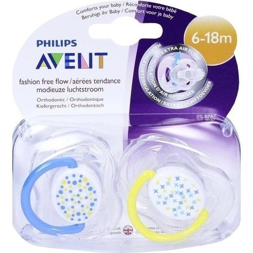 AVENT Schnuller Freeflow Trend 6-18 Mon.BPA-frei