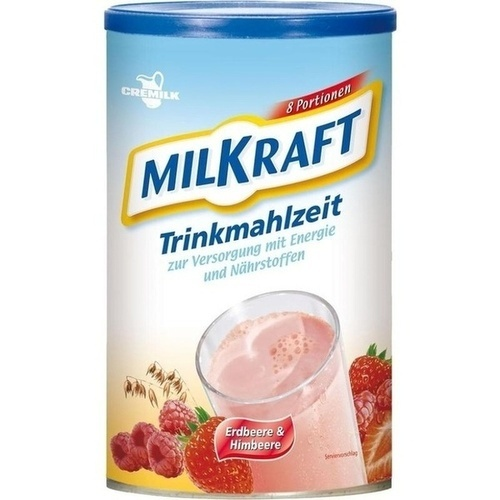MILKRAFT Trinkmahlzeit Erdbeere-Himbeere Pulver