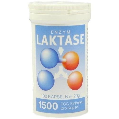 LAKTASE 1.500 FCC Enzym Kapseln 100 St.