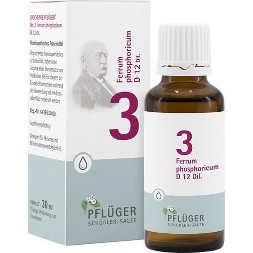 BIOCHEMIE Pflüger 3 Ferrum phosph.D 12 Tropfen