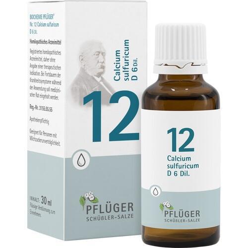 BIOCHEMIE Pflüger 12 Calcium sulfuricum D 6 Tropf.