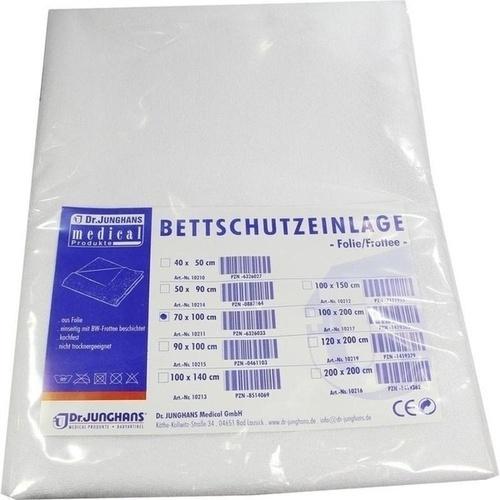 BETTSCHUTZEINLAGE Folie Frottee 70x100 cm