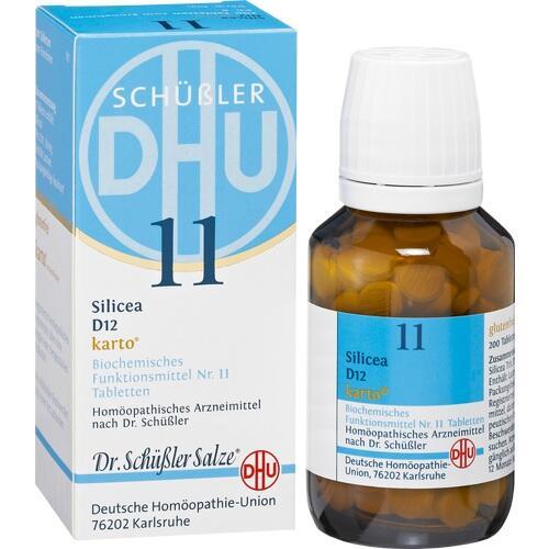 BIOCHEMIE DHU 11 Silicea D 12 Karto Tabletten
