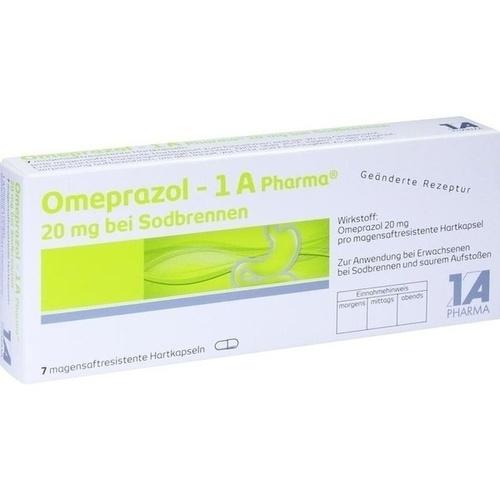 OMEPRAZOL-1A Pharma 20 mg bei Sodbrennen HKM