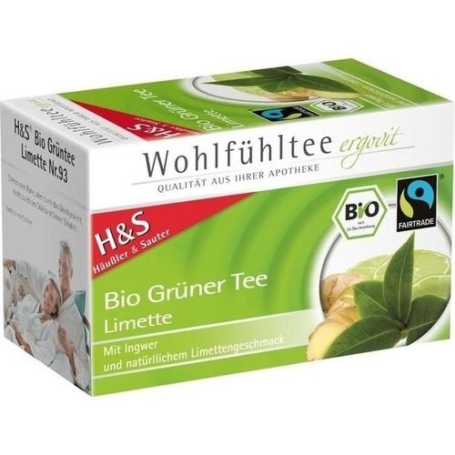 H&S Bio Grüner Tee Limette Filterbeutel