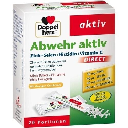 DOPPELHERZ Abwehr aktiv dir.Zink+Sel.+Histid.Pell.