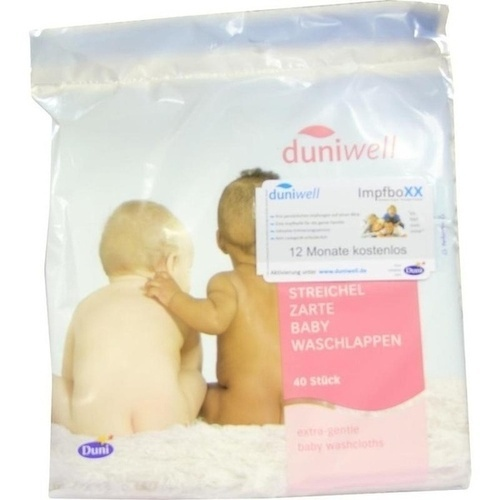 DUNIWELL Baby Waschlappen streichelzart 40St.