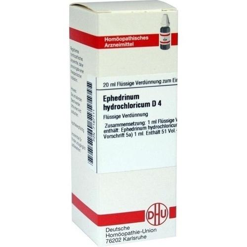 EPHEDRINUM hydrochloricum D 4 Dilution