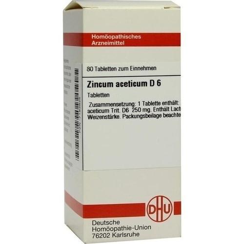 ZINCUM ACETICUM D 6 Tabletten