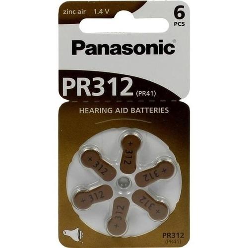 BATTERIEN f. Hörgeräte Panasonic PR312
