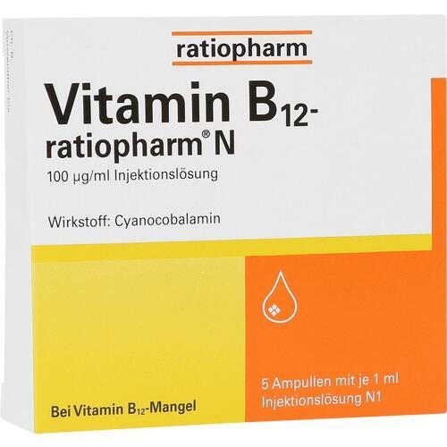 ratiopharm GmbH VITAMIN B12 ratiopharm N Ampullen 5X1 ml