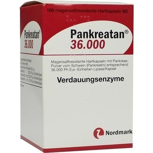 PANKREATAN 36.000 magensaftresistente Hartkapseln