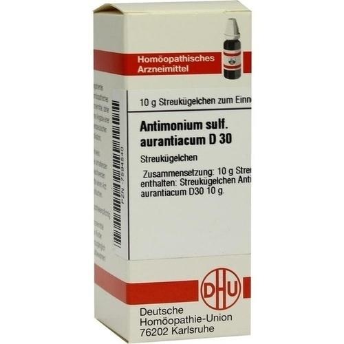 ANTIMONIUM SULFURATUM aurantiacum D 30 Globuli