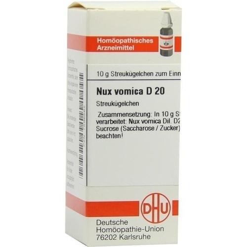 NUX VOMICA D 20 Globuli