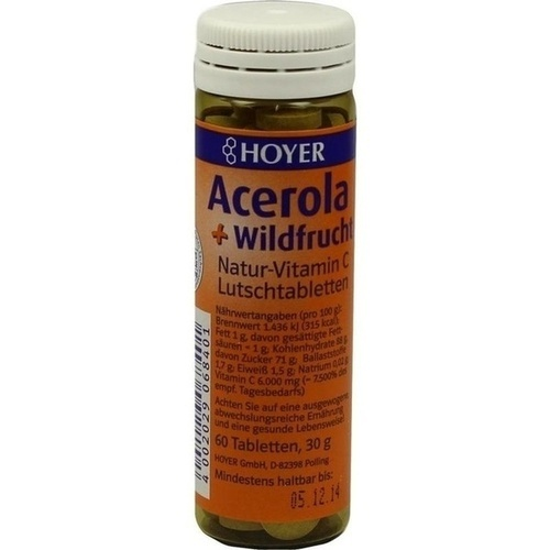 ACEROLA & WILDFRUCHT Vitamin C Lutschtabletten
